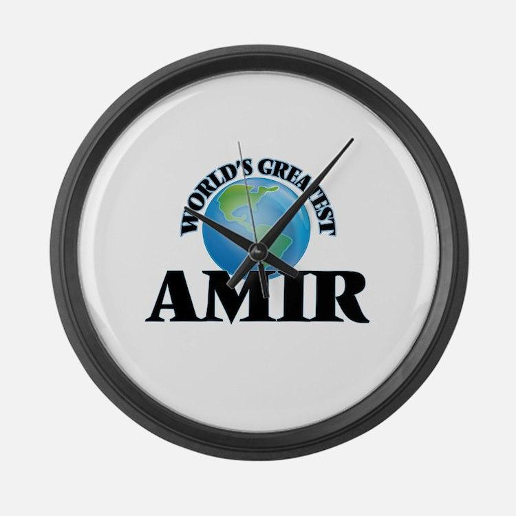 World's Greatest Amir Large Wall Clock