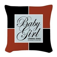 BABY GIRL Woven Throw Pillow