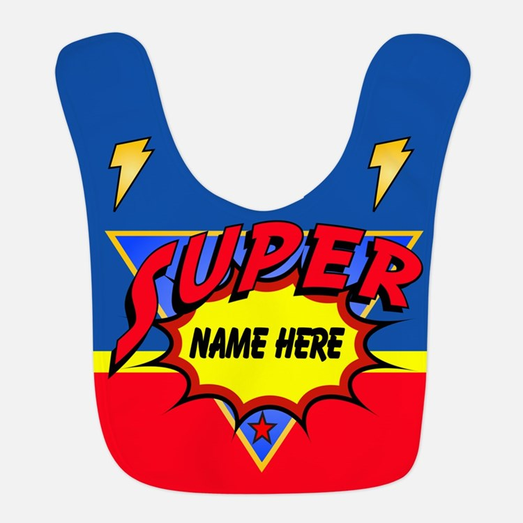 Superhero Comic Book Bib