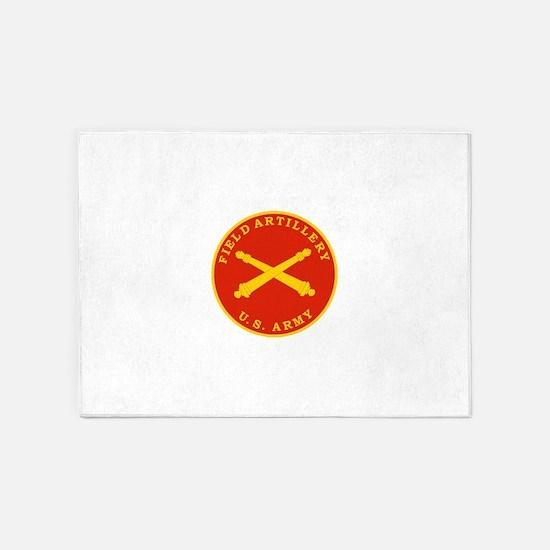 Field Artillery Seal Plaque.png 5'x7'Area Rug