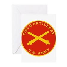 Field Artillery Seal Plaque Greeting Cards