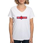 I Love Canada Women's V-Neck T-Shirt