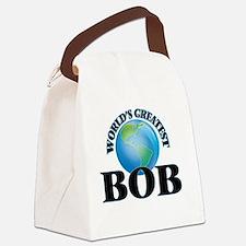 World's Greatest Bob Canvas Lunch Bag