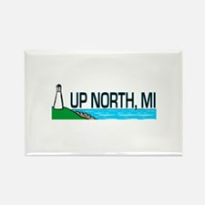 Up North, Michigan Rectangle Magnet