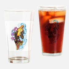 Koi and Lotus Drinking Glass