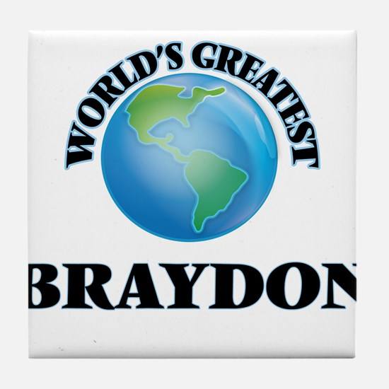 World's Greatest Braydon Tile Coaster