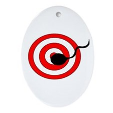 Sperm Hits Target Oval Ornament