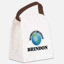 World's Greatest Brendon Canvas Lunch Bag