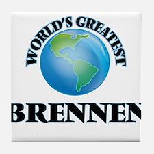 World's Greatest Brennen Tile Coaster