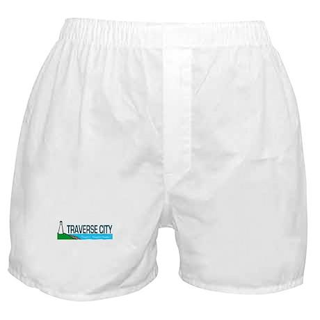 Traverse City, Michigan Boxer Shorts