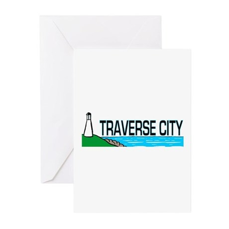 Traverse City, Michigan Greeting Cards (Package of