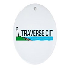 Traverse City, Michigan Oval Ornament