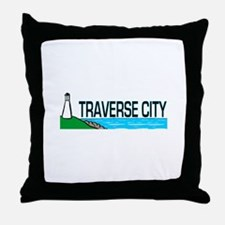 Traverse City, Michigan Throw Pillow