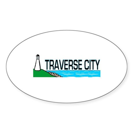 Traverse City, Michigan Oval Sticker