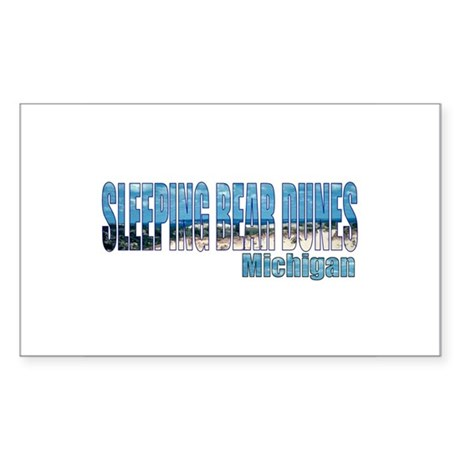 Sleeping Bear Dunes, Michigan Sticker (Rectangular