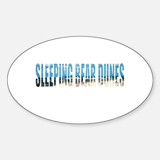 Sleeping Bear Dunes Oval Decal