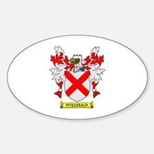 FITZGERALD Coat of Arms Oval Decal