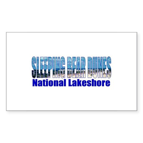 Sleeping Bear Dunes National Sticker (Rectangular