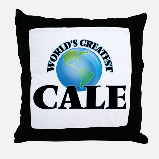 World's Greatest Cale Throw Pillow