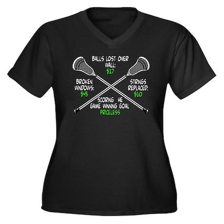 Lacrosse Priceless Women's Plus Size V-Neck Dark T
