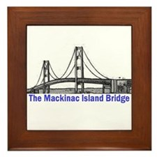 The Mackinac Bridge Framed Tile
