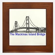 The Mackinac Bridge Framed Tile