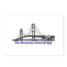 The Mackinac Bridge Postcards (Package of 8)