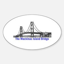 The Mackinac Bridge Oval Decal