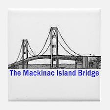 The Mackinac Bridge Tile Coaster