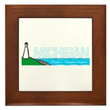 Michigan Framed Tile