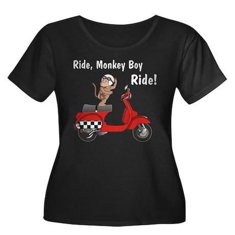 Classic Monkey-Boy Women's Plus Size Scoop Neck Da