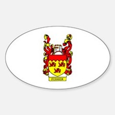 FISHER Coat of Arms Oval Decal
