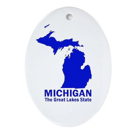 Michigan . . . The Great Lake Oval Ornament