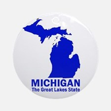 Michigan . . . The Great Lake Ornament (Round)