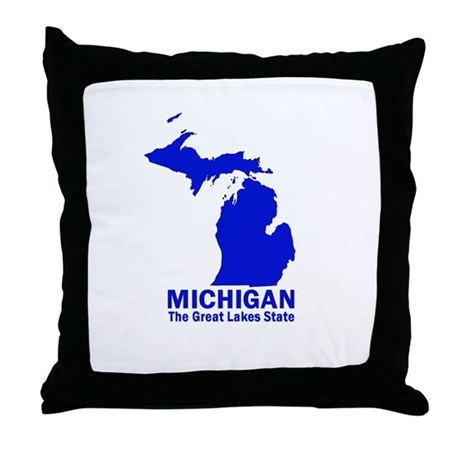 Michigan . . . The Great Lake Throw Pillow