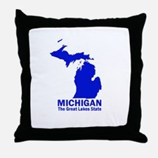 Michigan . . . The Great Lake Throw Pillow