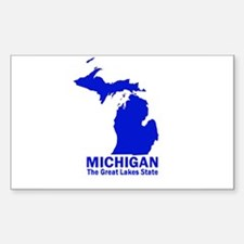 Michigan . . . The Great Lake Sticker (Rectangular