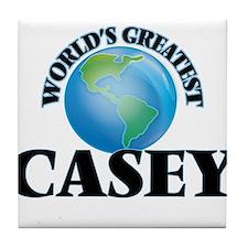 World's Greatest Casey Tile Coaster