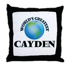 World's Greatest Cayden Throw Pillow