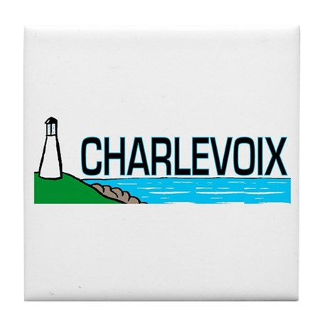 Charlevoix, Michigan Tile Coaster