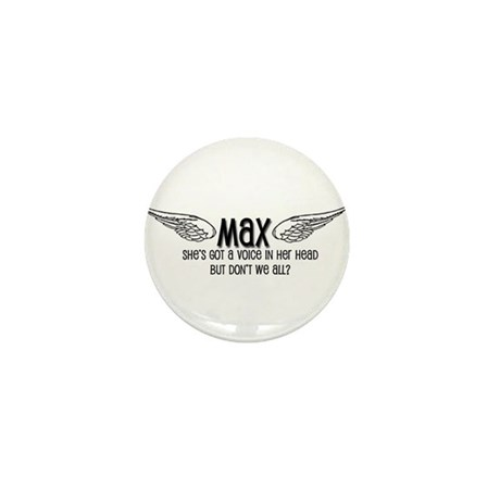 Max Has a Voice in Her Head Mini Button (10 pack)