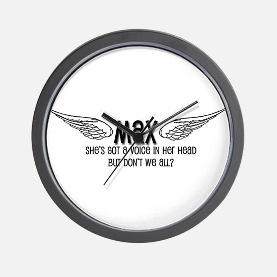 Max Has a Voice in Her Head Wall Clock