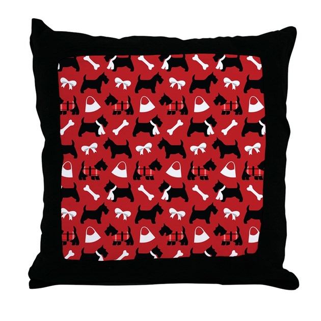 Scottie dog Lover Throw Pillow by MainstreetHomewares2