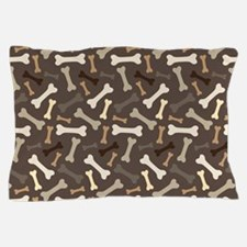 Dog Lover pet bone Pillow Case
