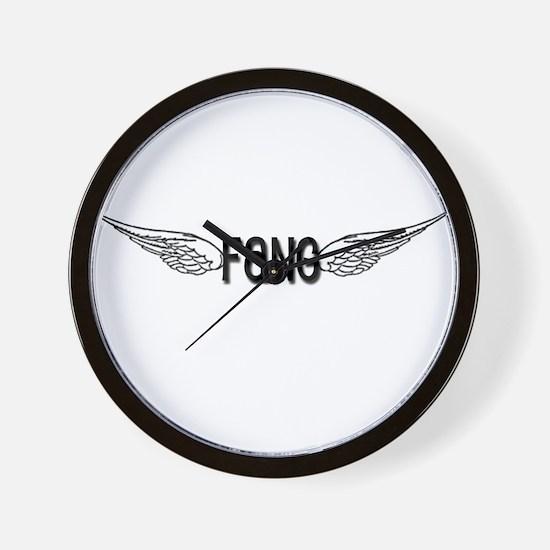 Fang Has Wings Wall Clock