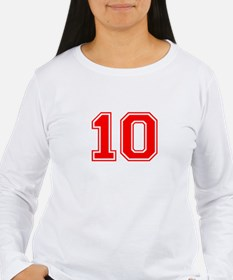 10-var red Long Sleeve T-Shirt