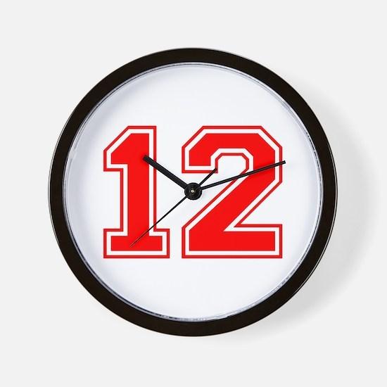 12-var red Wall Clock