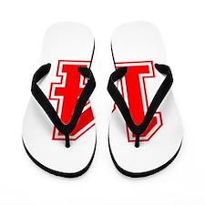 14-var red Flip Flops