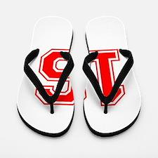 16-var red Flip Flops