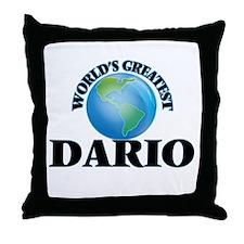 World's Greatest Dario Throw Pillow
